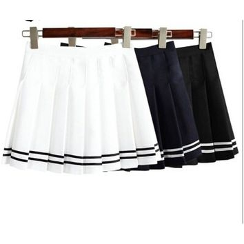 Women's Pleated Mini High waist vintage tennis skirts