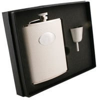 Visol Brilliance Silver Snakeskin Design 6oz Flask Gift Set