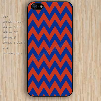 iPhone 6 case dream red blue chevron iphone case,ipod case,samsung galaxy case available plastic rubber case waterproof B199