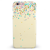 Mulitcolor Falling Confetti Over Off White  iPhone 6/6s or 6/6s Plus INK-Fuzed Case
