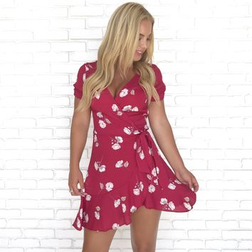 Kiss Me Floral Wrap Dress