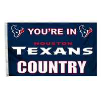 Houston Texans NFL You're in Texans Country 3'x5' Banner Flag
