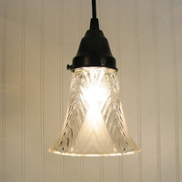 Corinna I Frost & Clear Shade PENDANT Created NEW by LampGoods