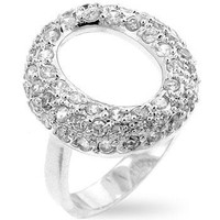 Pave Hooplet Ring, size : 10