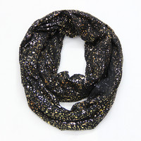 Free Shipping 2017 New Europe Fashion Shiny Bronzing Gold Dot Infinity Hijab Scarfs Snood For Women Ladies