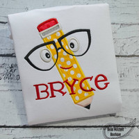 Back to School Apple With Glasses Custom Tee Shirt - Customizable