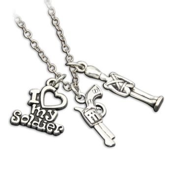 I Love My Soldier Chain Necklace