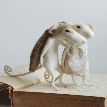 Needle mouse, felt mice, family mouse, felt ornament, soft figurine,stuffed animal,tender mouse