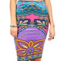 Velvet Land Pencil Skirt