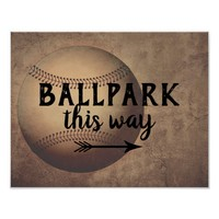 baseball quote poster distressed style