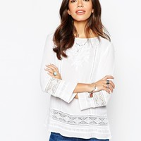 New Look Lace Detail Top