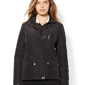 Lauren Ralph Lauren Plus Quilted Taffeta Jacket