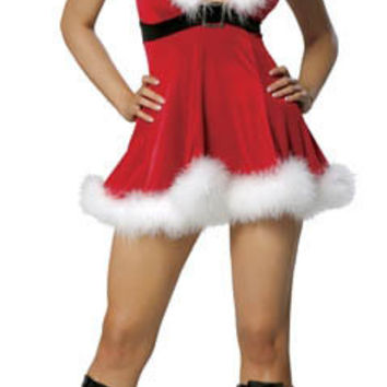 Christmas Hooded Sleeveless Mini Skater Costume Set