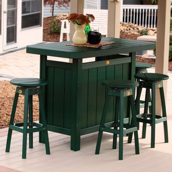 LuxCraft Recycled Plastic Bar Stool