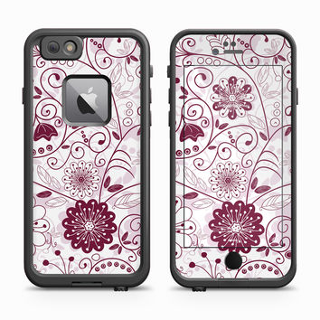 Purple Petal Impressions Skin for the Apple iPhone LifeProof Fre Case