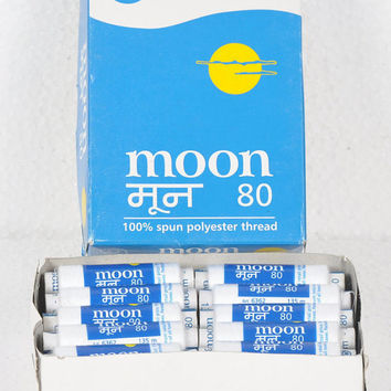 Coat'S Moon Multipurpose sewing thread spools  Black / White 100% spun polyester thread best deals from India!