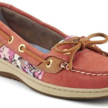Sperry Top-Sider Angelfish Slip-On Boat Shoe WashedRed/LibertyPrint, Size 9.5M  Women's