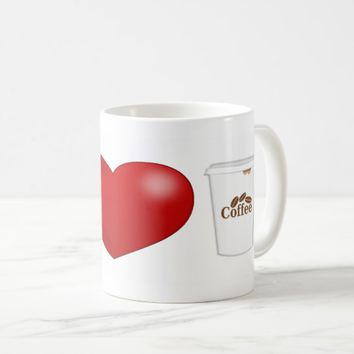 I Love coffee 3D Mug