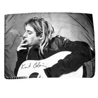 KURT COBAIN CIGARETTE ACOUSTIC FABRIC POSTER: Gypsy Rose
