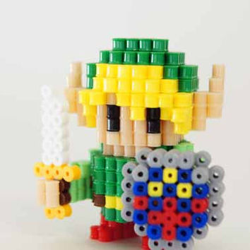 Legend of Zelda Link Perler Beads figure