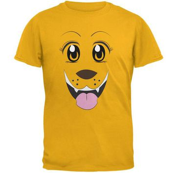 DCCKJY1 Anime Dog Face Inu Gold Adult T-Shirt