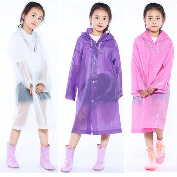 Reusable Children Raincoat Kids Impermeable Rain coat Cover Poncho Rainwear Waterproof Hooded capa de chuva infantil chubasquero