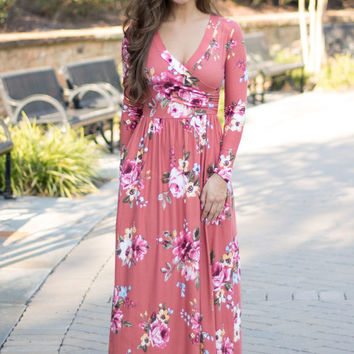 Fallin' For You Floral Maxi Dress
