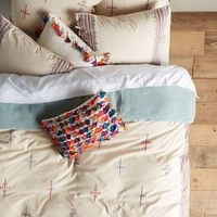 Embroidered Malindi Duvet by Anthropologie Multi