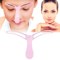 Eyebrow Grooming Stencil Kit Template Makeup Shaping Shaper DIY Tool