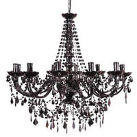 Buttress 12-arm Black Chandelier|Chandeliers|Lighting|French Bedroom Company