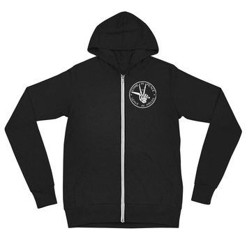Come In Peace or Leave In Pieces Tri-Blend Lightweight Zip Hoodie