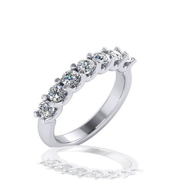 Stackable Birth Stone Rings in White Gold