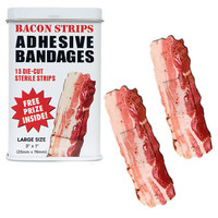 NEW Bacon Stripes Bandages in Tin - 15 Pack