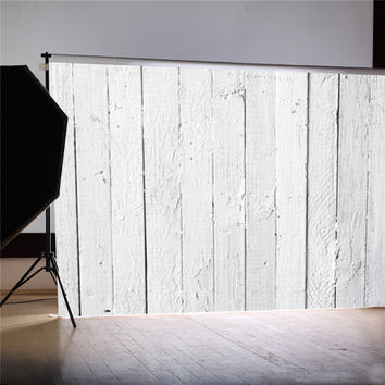 7x5ft Vinyl White Wood Floor Photography Background For Studio Photo Props Newborn Photographic Backdrops cloth 2.1x1.5m