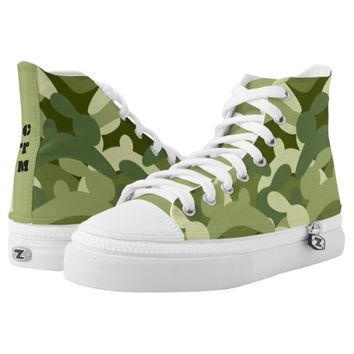 Bunny Camo High-Top Sneakers
