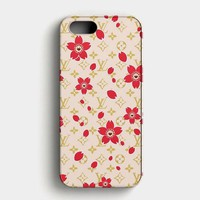 Louis Vuitton Flower Pattern iPhone SE Case
