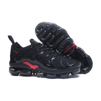 2018 Nike Air VaporMax Plus TN Black Red Sport Running Shoes - Best Online Sale