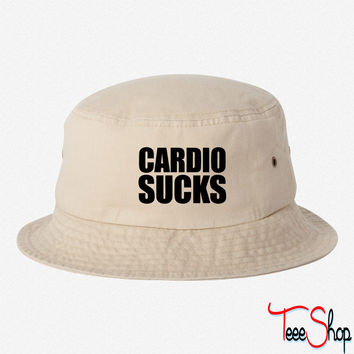 Cardio Sucks suvks bucket hat