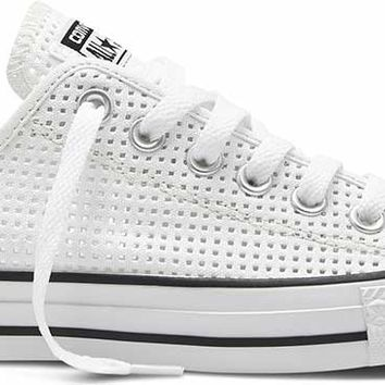 Converse Chuck Taylor All Star Shoes Perforated Canvas Ox for Women in  White 551625F 832e7643e5