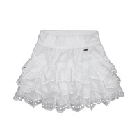 Hollister Womens White Eyelet Ruffle Skirt Size Small