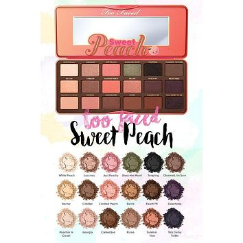 Too Faced Sweet Peach Eyeshadow Palette (Makeup A to Z)