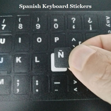 5pcs PVC Matte ESP Spanish Keyboard Skin Stickers For Macbook Air Pro 11 13 15 PC Computer Laptop Protector Cover for iMac