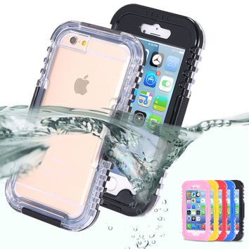 Waterproof Heavy Duty Hybrid Swimming Dive Case For Apple iPhone 6 4.7 inch Water/Dirt/Shock Proof