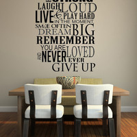 Have Hope Be Strong Laugh Loud.. Inspirational Vinyl Wall Decal Sticker Art