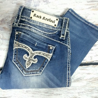 ROCK REVIVAL ADELE J37 STRAIGHT JEANS