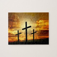 Jesus Christ Blessed Virgin Mary Dove Calvery Jigsaw Puzzle