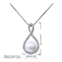 Gorgeous Simulated Pearl Pendant Necklace 8 Beads Collares Jewelry