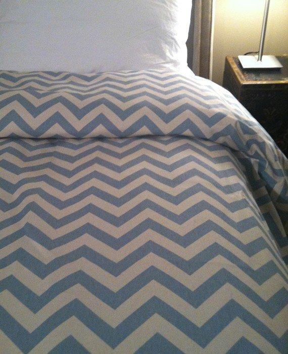 Premier Decorator Zig Zag Chevron Duvet Cover - TWIN Size - Free Shipping - Pick your color