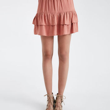 Solid Tiered Mini Skirt | Wet Seal