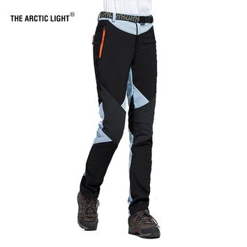 THE ARCTIC LIGHT Hiking Camping Skiing Pants Outdoor Traverse  Soft shell Trousers Waterproof Windproof Thermal For Women